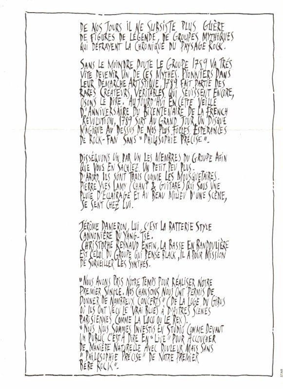 Côté promo  1789 - Philosphie précise (1988)