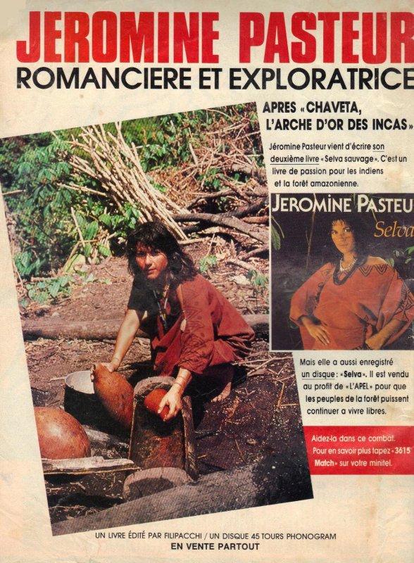 Articles  Publicité Jéromine Pasteur - 1989