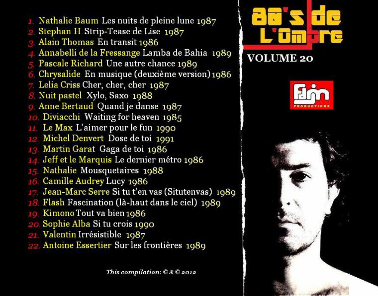 Les compilations  Volume 20 - Septembre 2012