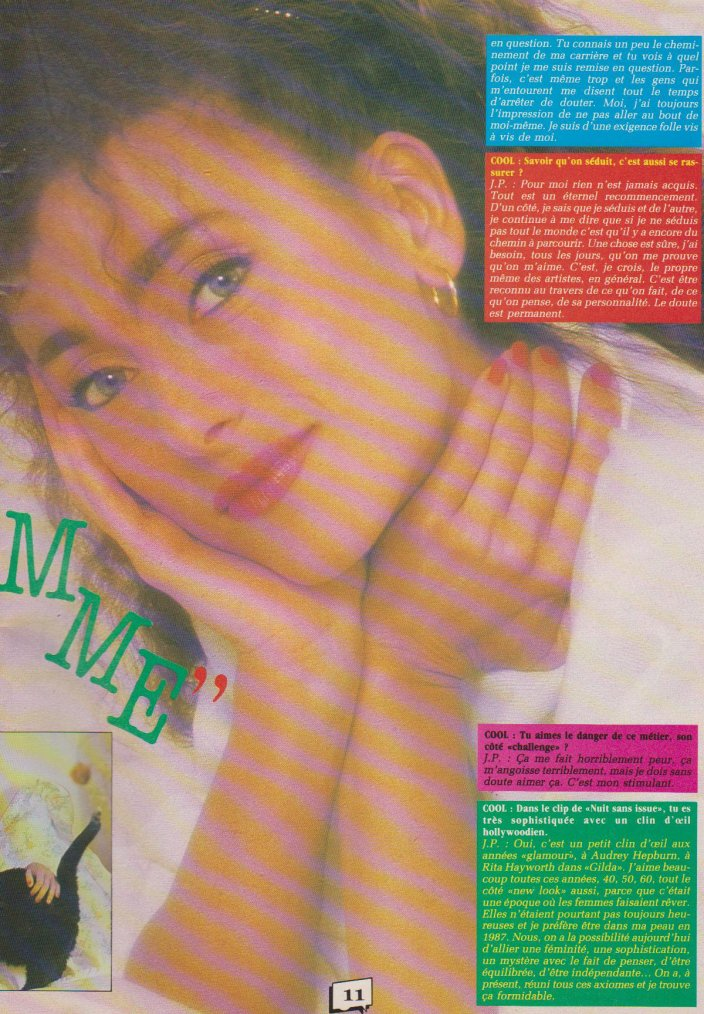 Articles  Interview Julie Pietri 1987