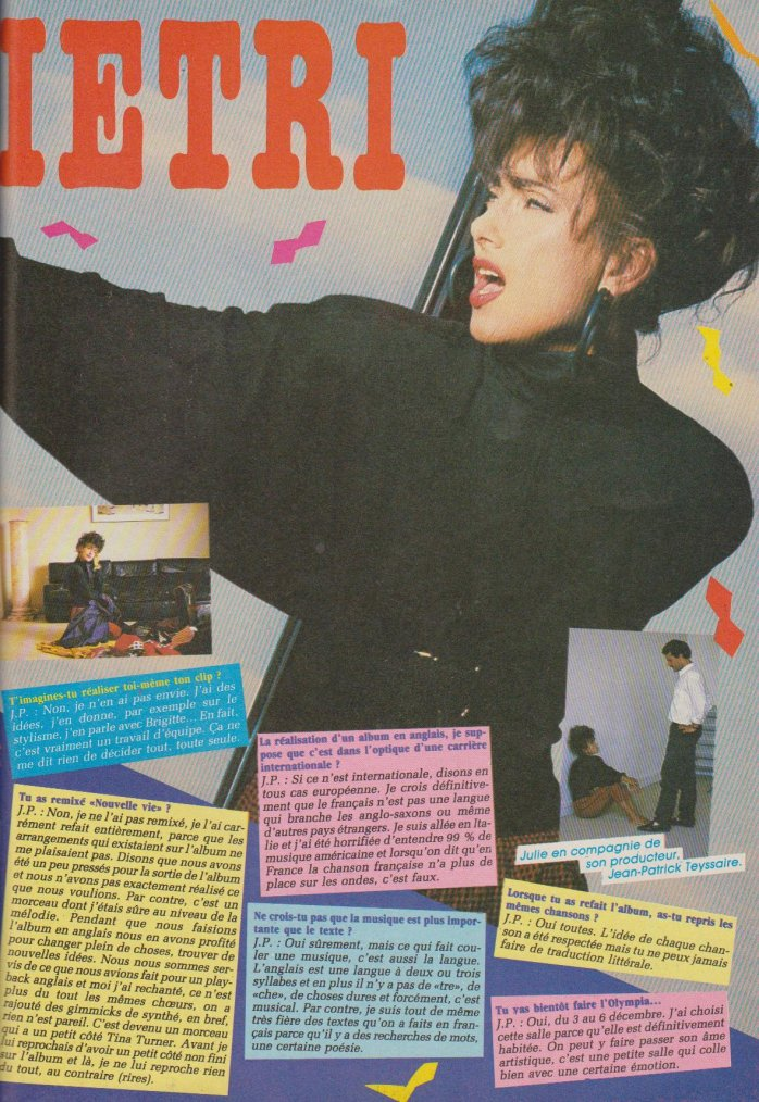 Articles  Interview Julie Pietri 1987