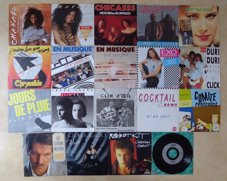 Collection 45 tours artistes de l'ombre - 3e partie: C