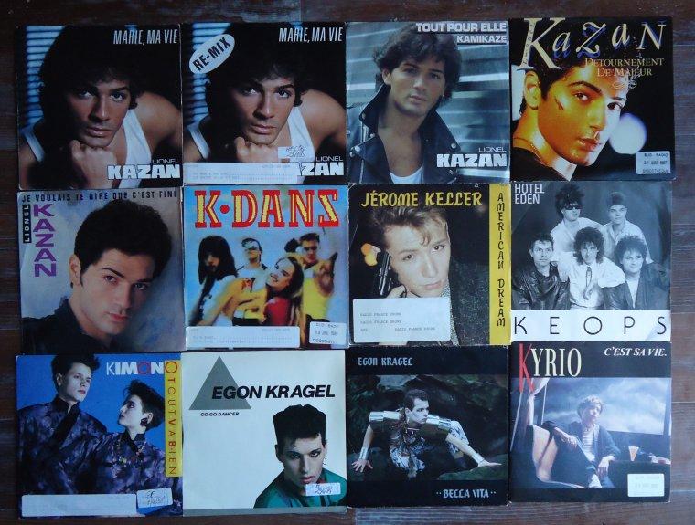Collection 45 tours artistes de l'ombre - 10e partie: K