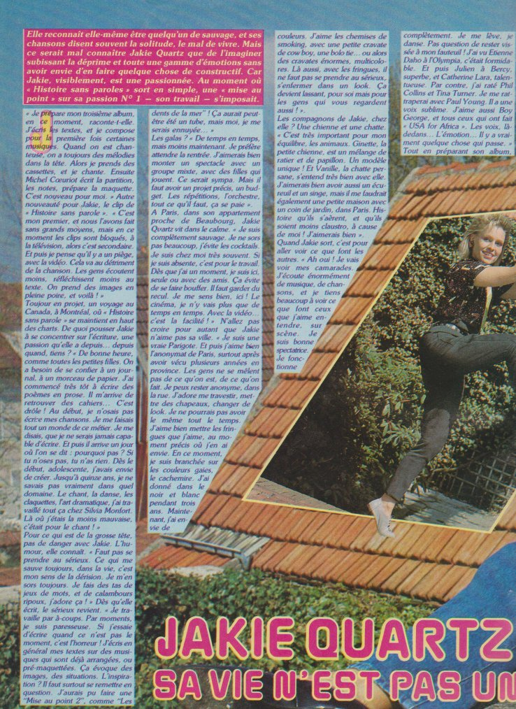 Articles  Jakie Quartz - 1985