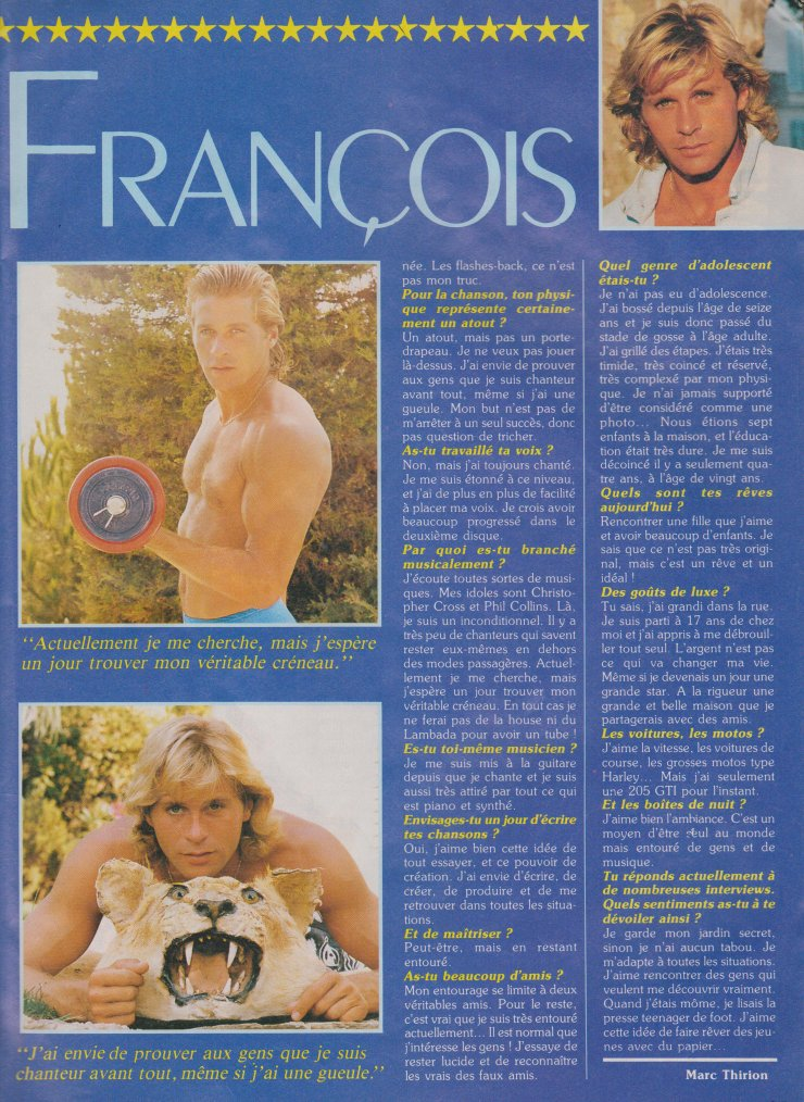Articles  Interview Jean-Pierre François - 1989
