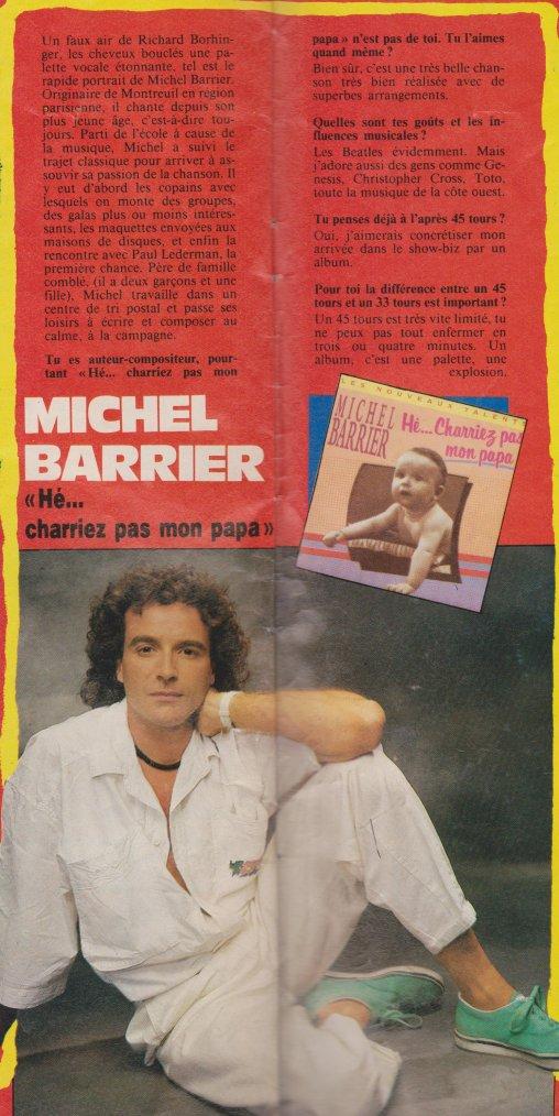 Articles  Interview Michel Barrier - Hé... Charriez pas mon papa! (1989)