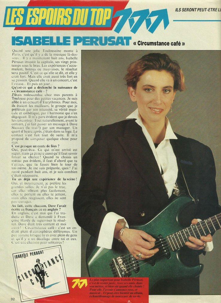 Articles  Isabelle Pérusat - 1989