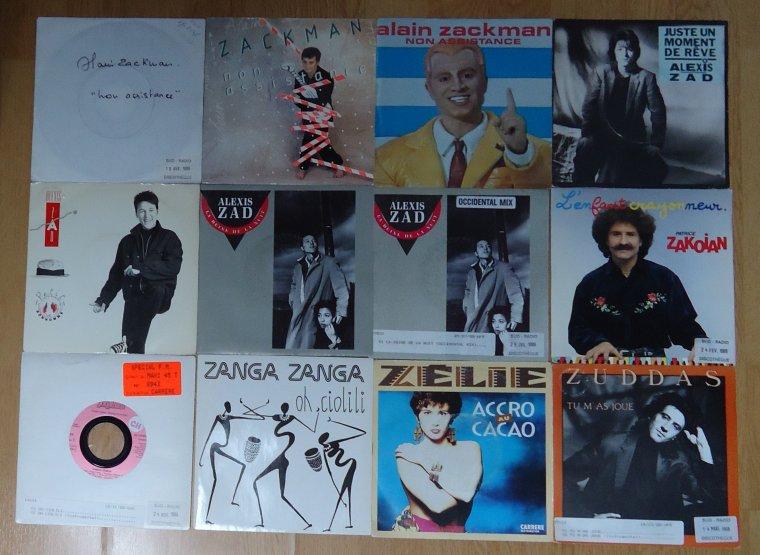 Collection 45 tours artistes de l'ombre - 23e et dernière partie: Z