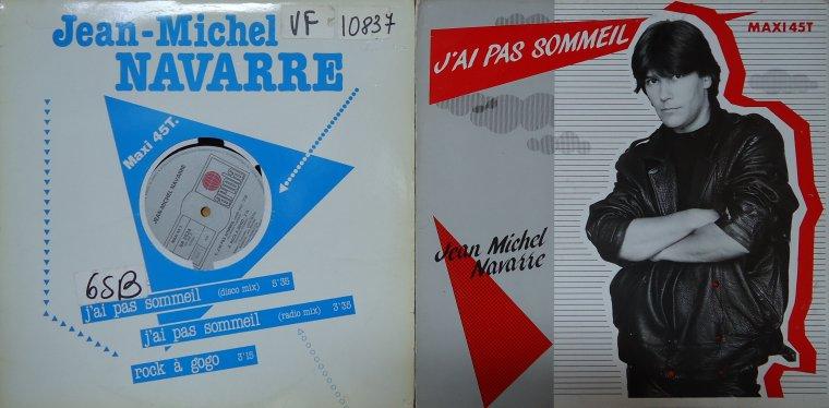 Le jeu des différences Maxi 45 tours Jean-Michel Navarre - J'ai pas sommeil (1986)