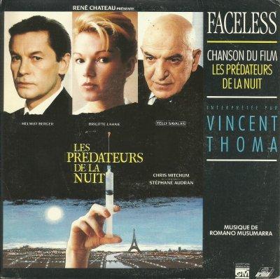 """Coup d'oeil sur...  Vincent Thoma - Faceless (chanson du film """"Les prédateurs de la nuit"""") (1988)"""