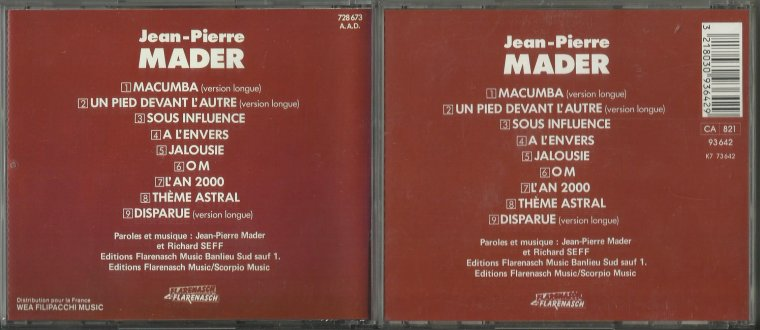 Le jeu des différences  Jean-Pierre Mader - Microclimats (1985)