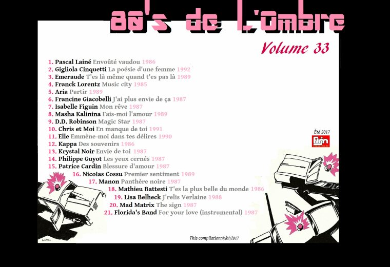 Les compilations  Volume 34 (été 2017)