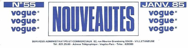 Côté promo  Anton Roman ouvre ses archives! 2/2: Catalogue Vogue janvier 1985
