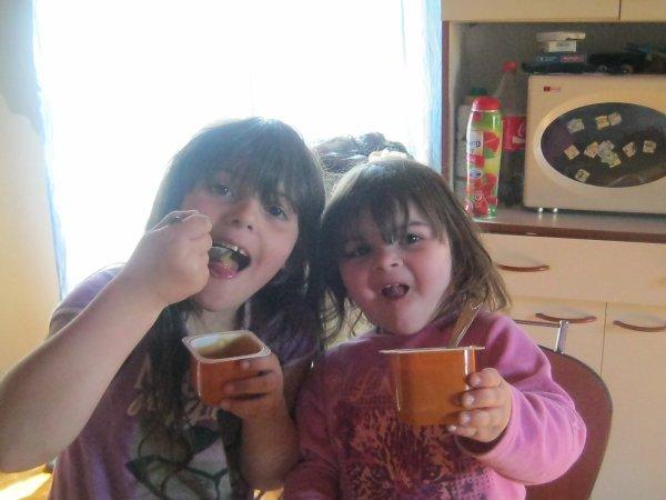 nos deux filles et le debut de la nouvelle cuisine