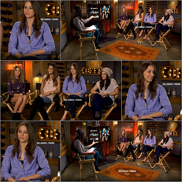 """Le 21/10/13: Troian a fait une """" Twitcam"""" avec Ashley , Shay et Lucy au """"Good Mornig America"""" pour répondre a des questions posez par les fans PS: Les captures ont était réalisez par moi même"""