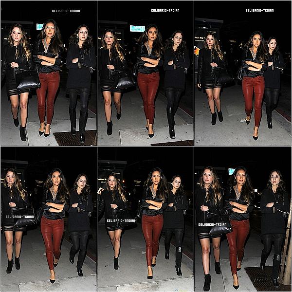 Le 03/11 /13 : Shay, Troian et Ashleyont été aperçues quittant le clubBootsy Bellowsde West Hollywood ou le crew de la série a organisé une petite fête en l'honneur de la fin du tournage