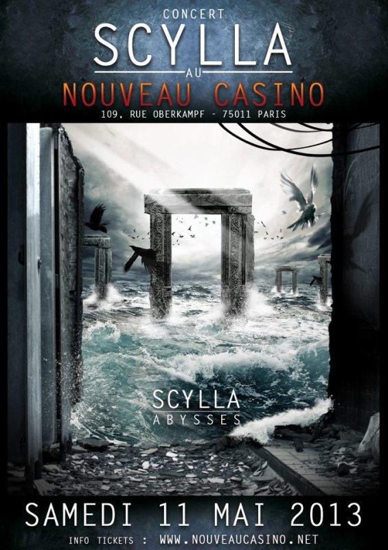 SCYLLA EN CONCERT A PARIS LE 11 MAI 2013 AU NOUVEAU CASINO !