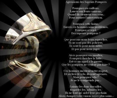 Poeme Agression Des Sapeur Pompier