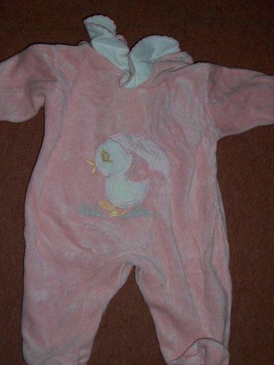 ARTICLE N°193 - Pyjama rose avec canard 3 mois