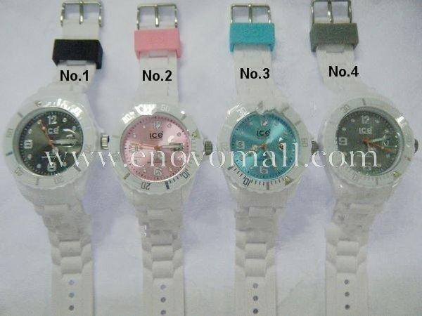 Mode Ice Watch Montre avec date bracelet blanc 11colors cadran,nouvelle !