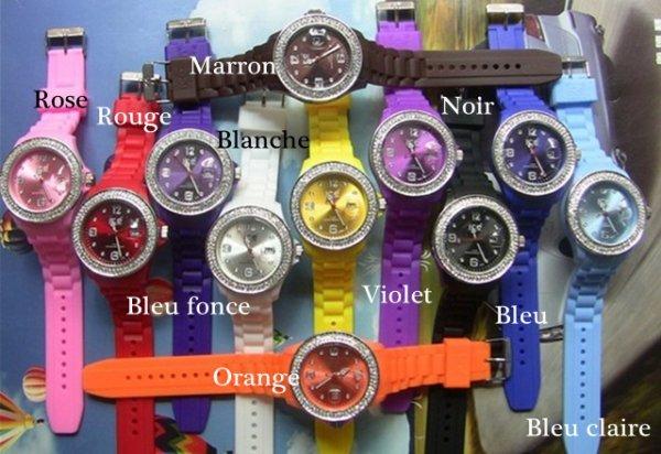 ice watch avec deux rangs diamont+date (nouvelle version)