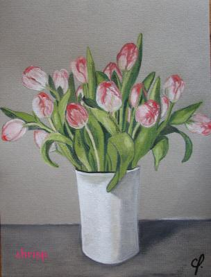 Bouquet de tulipes art dessins et peintures for Bouquet de tulipes