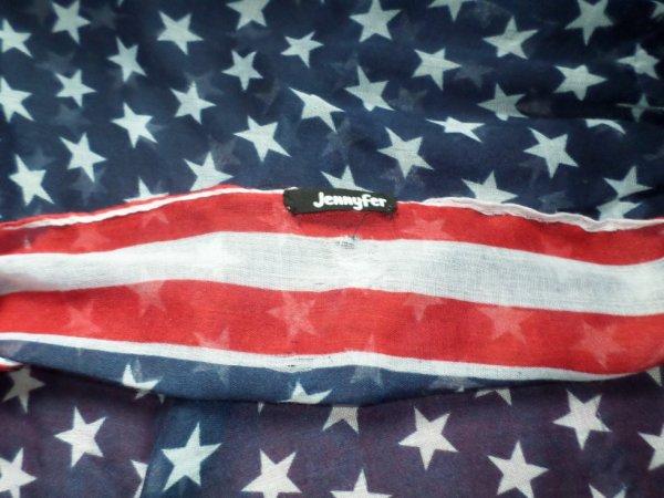 l'echarpe drapeau des USA chez JENNYFER