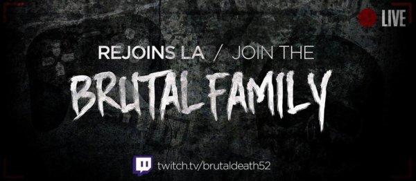 Venez voir BrutalDeath52 il live sur twitch sur des jeu comme Dayz,Dying Light et d'autre jeux rejoignez la #BrutalFamily