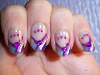 "Nail Art For ""Purple Contest"" !"