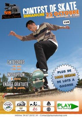 CONTEST dimanche  25 octobre 2009  au skatepark de Béziers !!!