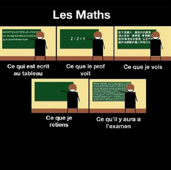 Les  maths …
