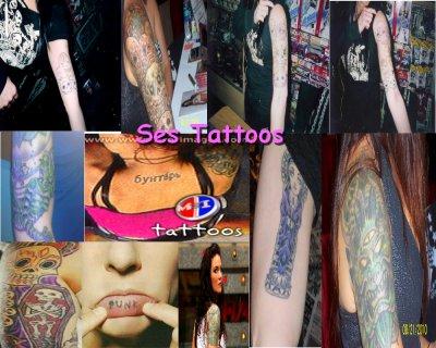Ses tatouages (l)