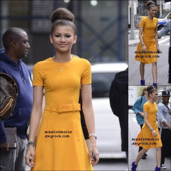 "Bella le 21 mai+Zendaya with Caroline et Adam+Zendaya émission ""Good Morning America""+Zendaya le 23 mai."