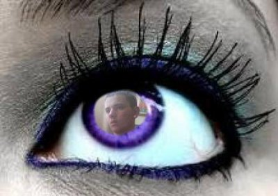 look me only with a beautiful eye