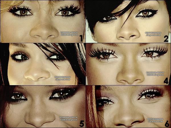 .VOICI LES PLUS BEAU MAKE-UP DE RIHANNA, QUELS SONT VOS MAKE-UP FAVORIS?Article en collaboration avec_ FentyRihanna_ votre meilleur source pour suivre lll'actualitéell de jour en jour sur Rihanna..