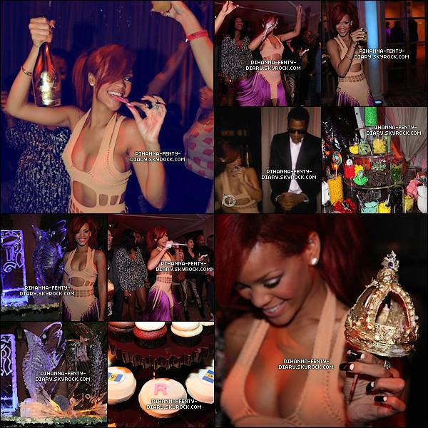 .20 Févr._...Rihanna fête son 23ème anniversaire en compagnie de sa famille Mélissa et d'autre célébrités..