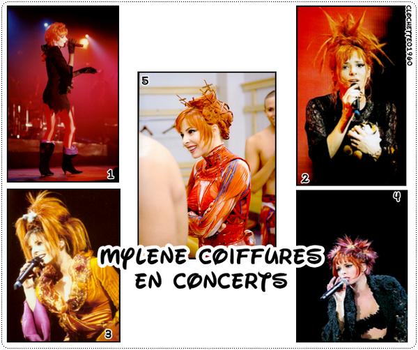 Mylene coiffures en concerts