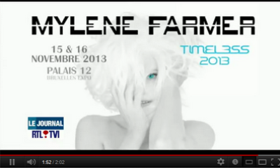 Tournée 2013 : Timeless 2013