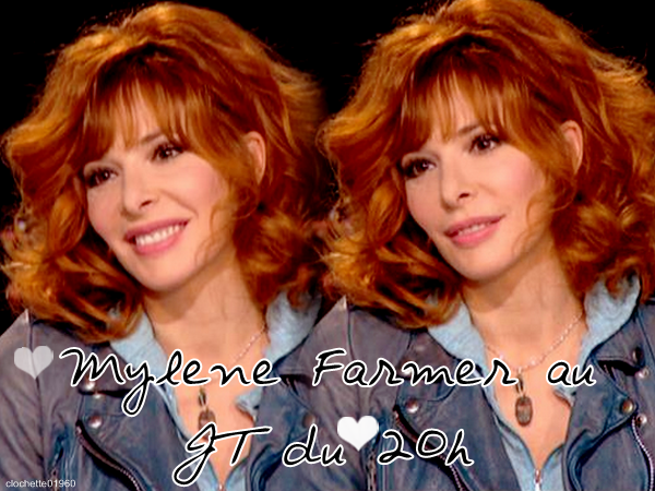 Mylene Farmer : Interview au JT de 20h TF1