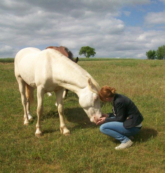 Jeanne est venue de Lyon nous faire un petit coucou...  elle en a profité pour faire de gros câlins à son poney...  VENDÔME !!!