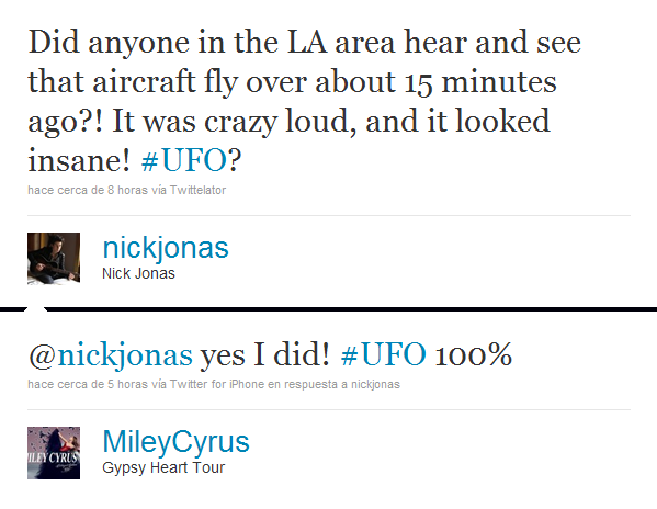 Miley a twitté Nick !