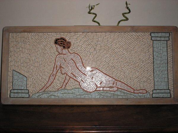 Plateau de table basse en mosaïque