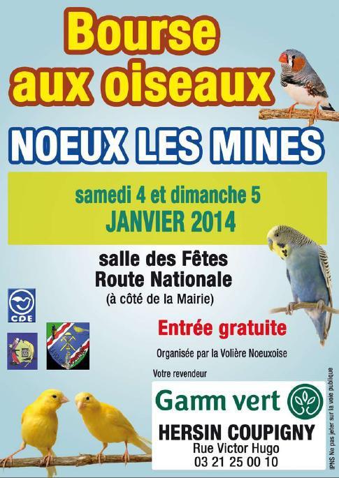 Bourse de la volière noeuxoise le 04 & 05 janvier 2014