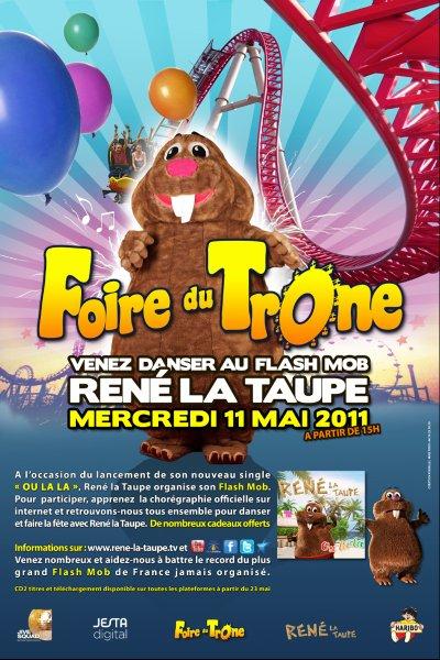 René La Taupe prépare son FLASH MOB à la Foire du Trône le Mercredi 11 Mai 2011 !!