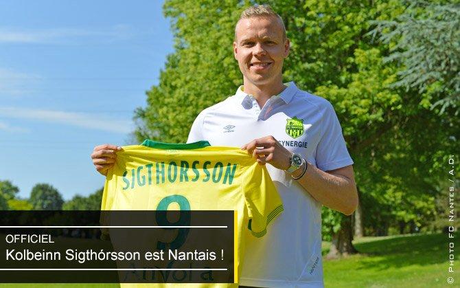 Nantes : Sigthorsson a signé
