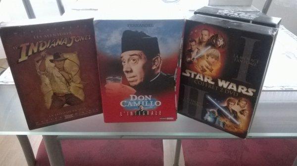 Coffrets Indiana Jones, Star wars et Don Camillo