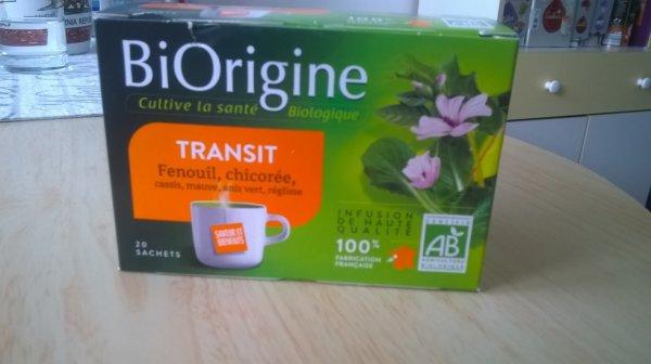 Infusion Bio pour Transit