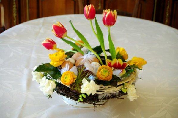 Nid de Pâques - Art floral