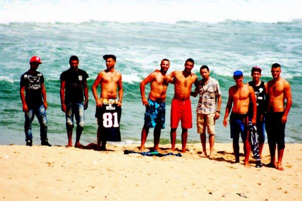 notre belle plage avec les amies