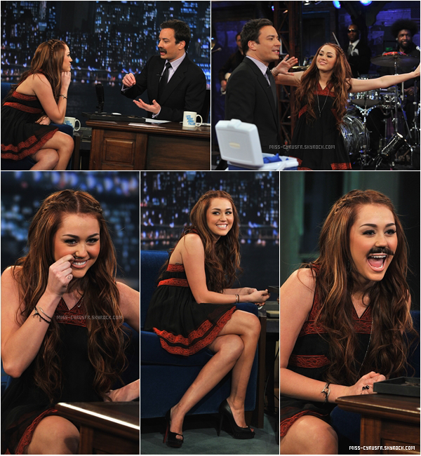 """03.03/ Miley au """"Late Night With Jimmy Fallon"""""""